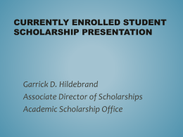 Scholarships PowerPoint Presentation
