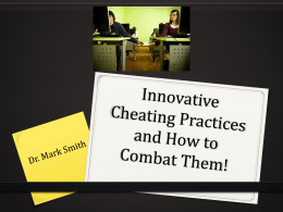 Preventing Cheating, Mark Smith