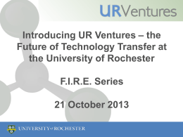 Introducing UR Ventures – the Future of Technology Part I
