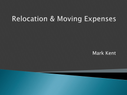 Relocation Expenses - University of Georgia