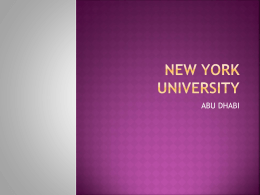 2. What is the vision of NYU Abu Dhabi?