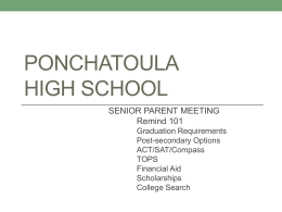 Senior Parent Workshop - Tangipahoa Parish Schools