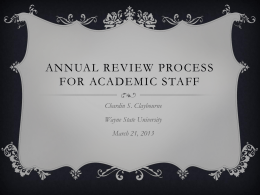 Annual Review Process - AAUP