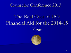 The Real Cost - University of California