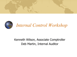 Internal Controls - Purdue University