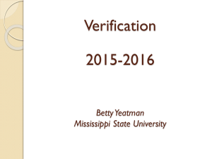 Verification 2015-2016