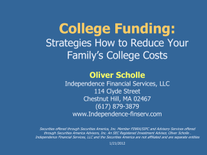 College Funding For Families with a College