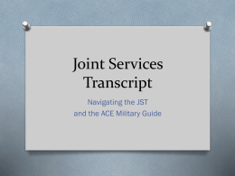 Joint-Services-Transcript