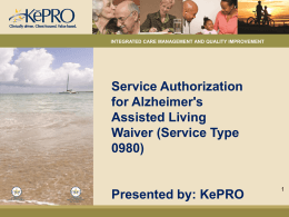 (AAL)Waiver - KEPRO / DMAS Home