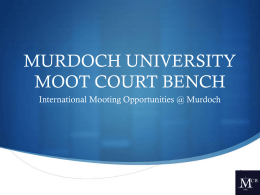 Mooting at Murdoch Workshop