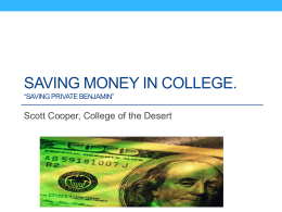 Financial Savings - College of the Desert