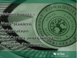 Student Services - Central Piedmont Community College