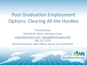 Post Graduation Employment Options: Clearing All the Hurdles