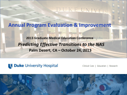 Annual Program Evaluation & Improvement