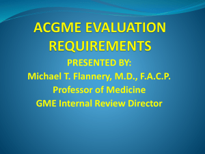 ACGME EVALUATION REQUIREMENTS