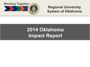 Working Together - Regional University System of Oklahoma