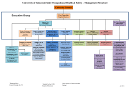 Organisation Chart - Insight – University of Gloucestershire