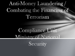 Anti-Money Laundering- AREA presentation