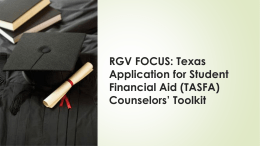 Texas Application for Student Financial Aid (TASFA) Counselors