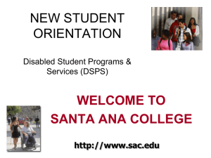 dsps new student orientation 2012
