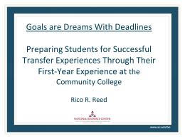 Goals are Dreams With Deadlines - National Institute for the Study of