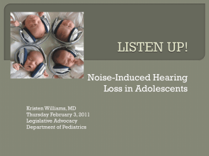 Listen Up! Noise-Induced Hearing Loss In Adolescents
