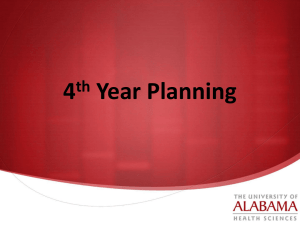 Fourth-Year Planning