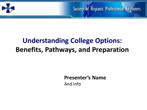 Understanding College Options (English)