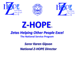Z-HOPE - Zeta Phi Beta Sorority, Inc. | State of Maryland