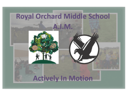 Royal Orchard Middle School A.I.M. Actively In Motion