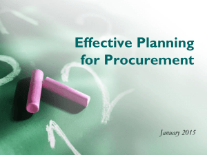 Effective Planning for Procurement (PPT Version)