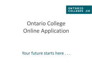 On-line college application tutorial shortened 2014-201