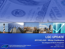 LGC Update - NC Local Government Investment Association