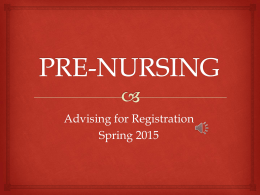 Nursing Spring 2015 Registration Information