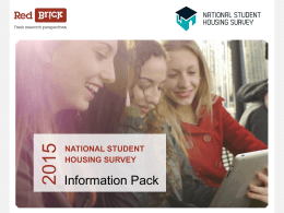 click here - National Student Housing Survey