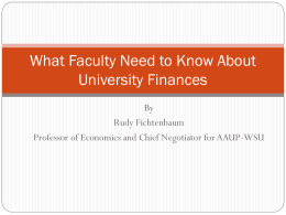 What Faculty Need to Know About University Finances
