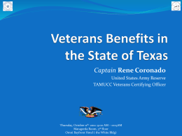 Veterans Benefits - Administration and Processing