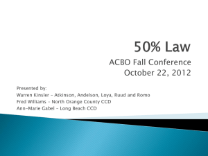 50% Law ACBO Fall Conference