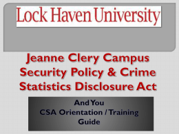 Campus Security Authority
