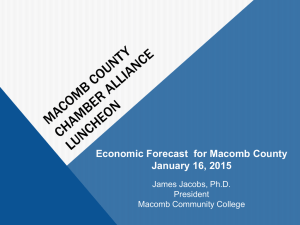 2015 Economic Forecast for Macomb County2015 Economic