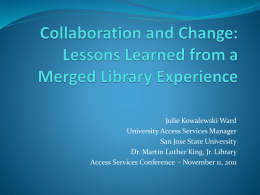Collaboration and Change: Lessons Learned from a