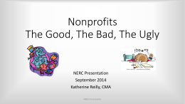 Nonprofits, The Good, The Bad, The Ugly