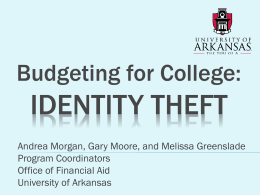 IDENTITY THEFT - Financial Aid