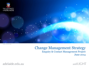 Change Management Strategy Proposal