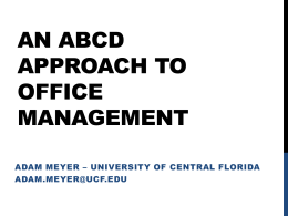 ABCD Approach to Management PowerPoint