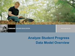 (ASP) Data Model Overview - Computing & Information Technology