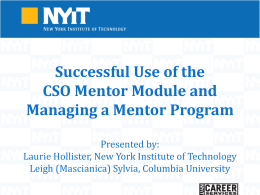 NYIT Alumni Mentor Program