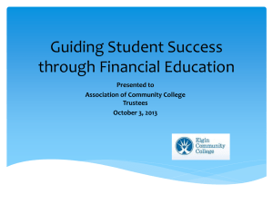 Guiding Student Success through Financial Education