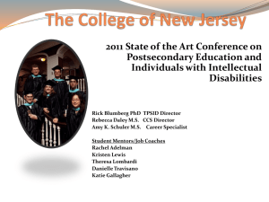 The College of New Jersey - Career & Community Studies