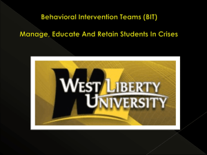 WLU BIT PowerPoint - West Liberty University